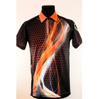 Футболка DVC 1 (черно-оранжевая)